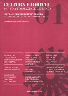 Premioquesti.it Cultura e diritti. Per una formazione giuridica (2012). Vol. 1 Image