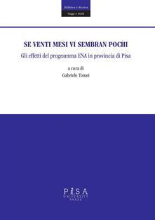 Se venti mesi vi sembran pochi. Gli effetti del programma Ena in provincia di Pisa - Gabriele Tomei - ebook
