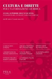 Cultura e diritti. Per una formazione giuridica (2014). Vol. 1