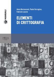 Fondazionesergioperlamusica.it Elementi di crittografia Image