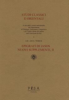 Tegliowinterrun.it Studi classici e orientali (2015). Vol. 61\2 Image