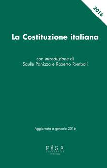 Filippodegasperi.it La Costituzione italiana. Aggiornata a gennaio 2016 Image