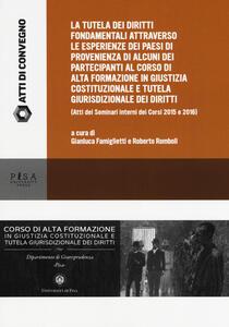 Esperienze di tutela dei diritti fondamentali a confronto. Seminario interno del Corso di Alta Formazione in Giustizia costituzionale, anno 2017