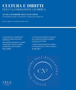 Cultura e diritti. Per una formazione giuridica  (2016). Vol. 3