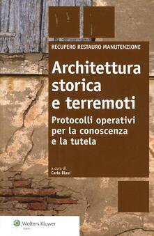 Criticalwinenotav.it Architettura storica e terremoti. Protocolli operativi per la conoscenza e la tutela Image