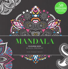 Squillogame.it Mandala. Black premium. Colouring book antistress Image