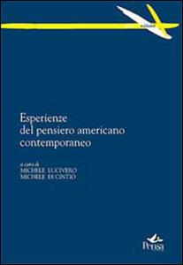 Esperienze del pensiero americano contemporaneo