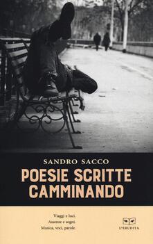 Poesie scritte camminando - Sandro Sacco - copertina