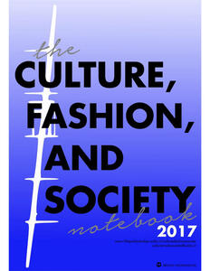 TheCultures, fashion and society's notebooks (2017)