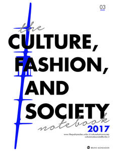 Culture, fashion and society's. Notebook (2017). Vol. 3