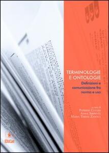Terminologie e ontologie. Definizioni e comunicazione fra norma e uso