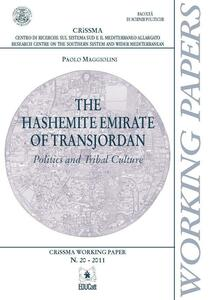 Thehashemite Emirate of Transjordan. Politics and tribal culture