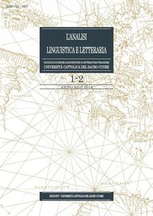 L' analisi linguistica e letteraria (2014) vol. 1-2 - AA. VV. - ebook