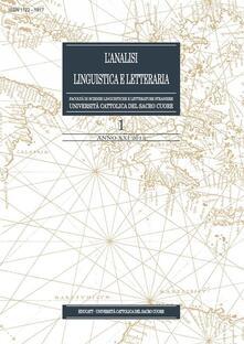L' analisi linguistica e letteraria (2013). Vol. 1 - AA. VV. - ebook
