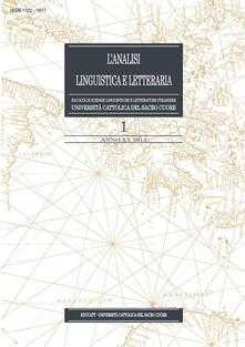 L' analisi linguistica e letteraria (2012). Vol. 1 - AA.VV. - ebook