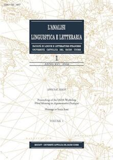 L' analisi linguistica e letteraria (2008). Vol. 1 - AA.VV. - ebook