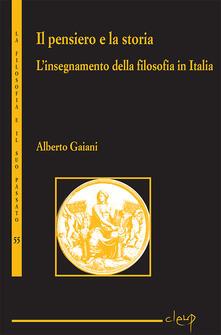 Grandtoureventi.it Il pensiero e la storia. L'insegnamento della filosofia in Italia Image