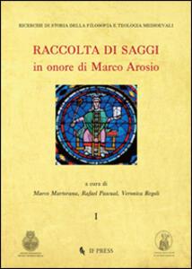Raccolta di saggi in onore di Marco Arosio