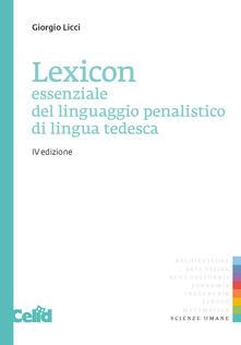Filippodegasperi.it Lexicon essenziale del linguaggio penalistico di lingua tedesca Image