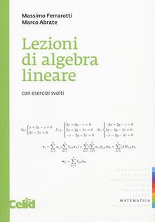 Daddyswing.es Lezioni di algebra lineare. Con esercizi svolti Image