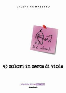 43 colori in cerca di Viola - Valentina Masetto - copertina