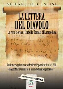 La lettera del diavolo. La vera storia di Isabella Tomasi di Lampedusa - Stefano Nocentini - copertina