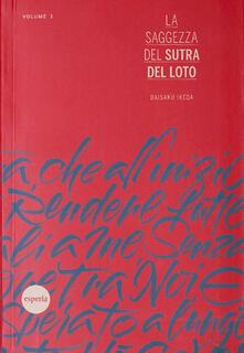 La saggezza del sutra del loto. Vol. 1 - copertina