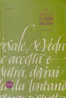La saggezza del sutra del loto. Vol. 3 - copertina