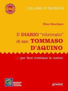 Nicocaradonna.it Il diario «ritrovato» di san Tommaso d'Aquino... per fare cristiana la mente Image