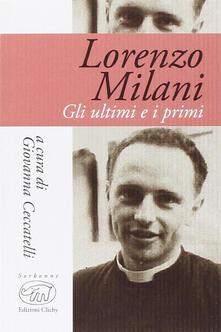 Gli ultimi e i primi - Lorenzo Milani - copertina