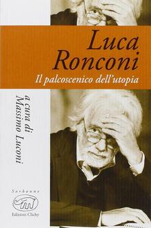 Luca Ronconi. Il teatro dell'uomo - copertina