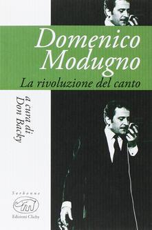 Domenico Modugno. La rivoluzione del canto - copertina