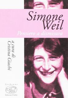Squillogame.it Simone Weil. Pensiero e dismisura Image