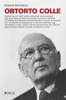 Obtorto colle - Donato Mutarelli - copertina