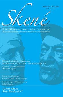Skené. Rivista di letteratura francese e italiana contemporanee. Vol. 5 - copertina