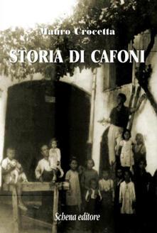 Storia di cafoni - Mauro Crocetta - copertina