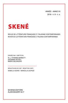 Skené. Rivista di letteratura francese e italiana contemporanee-Revue de littérature française et italienne contemporaines (2018). Vol. 8 - copertina
