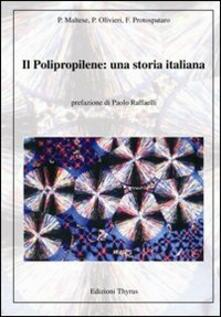 Il polipropilene. Una storia italiana - copertina