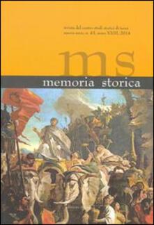 Memoria storica. Con DVD. Vol. 43 - copertina