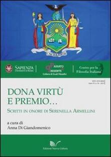 Dona virtù e premio... Scritti in onore di Serenella Armellini - copertina