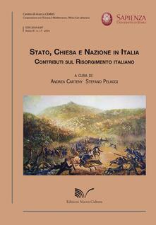 Stato, Chiesa e Nazione in Italia. Contributi sul Risorgimento italiano - copertina