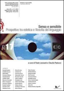 Senso e sensibile. Prospettive tra estetica e filosofia del linguaggio - copertina
