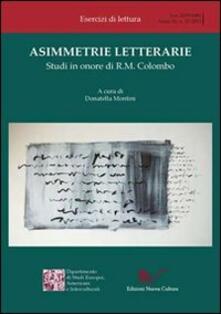 Asimmetrie letterarie. Studi in onore di R. M. Colombo - copertina