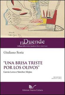 «Una brisa triste por los olivos» García Lorca e Sànchez Mejías - Giuliano Soria - copertina