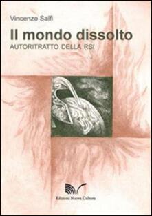 Il mondo dissolto. Autoritratto della RSI - Vincenzo Salfi - copertina