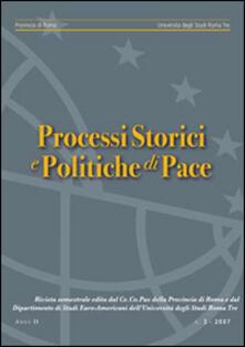 Processi storici e politiche di pace (2007). Vol. 3 - Alfredo Breccia - copertina