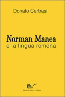 Norman Manea e la lingua romena - Donato Cerbasi - copertina