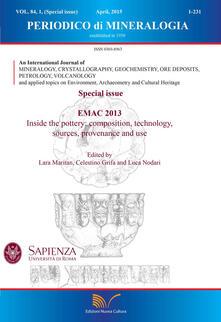 Periodico di mineralogia (2015). Ediz. inglese. Vol. 84 - Antonio Gianfagna - copertina