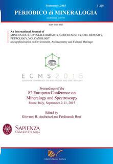 Periodico di mineralogia (2015). Ediz. inglese - copertina