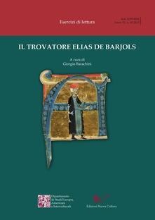 Il trovatore Elias de Barjols - copertina